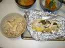 マツタケご飯とヒラメのホイル包み焼き