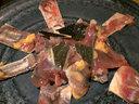 すっぽん鍋用の肉と甲羅
