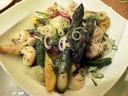 アスパラと海老とホタテの炒め物