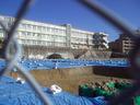 工事中の母校