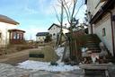 「六甲ガーデンテラス」の玄関口には雪が残っていた