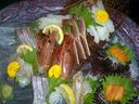造里 浜坂産松葉蟹と沖魚盛り合わせ