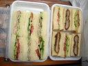 カツと野菜のサンドウィッチ&コンビーフと野菜のサンドウィッチ