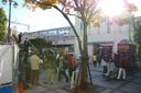 AM9時の阪急芦屋川駅前はハイカーがいっぱい