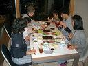 皆で手巻き寿司