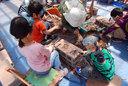 「丹波竜の里」で化石発掘体験