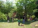 「ダルシャン」の庭(遊び場?) こんなところで子供を育てるのは最高だろう