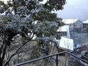 外は雪景色だった
