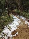 トレイルには積雪