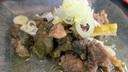 アオウミガメ肉の煮込み