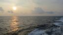 夕暮れ迫る太平洋上