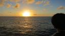 太平洋で迎える夕暮れ