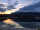 夕暮れ時の北山ダム