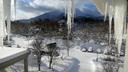 雪に覆われた年末年始だった