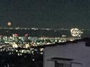 遠かったので画像は粗いが、右が芦屋、左奥が大阪