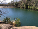 姪と北山池へ