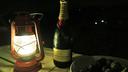 マーヴィン持参のシャンパン