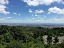 神呪寺から大阪方面を望む