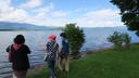 屈斜路湖畔にて