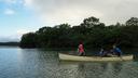まずは湖の上で雰囲気を味わう
