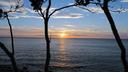 オホーツク海に沈む夕陽