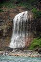 カムイワッカの滝 温かい温泉であるという