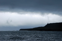 知床岬には暗雲が垂れ込め、向こうにあるはずの北方領土は見えなかった