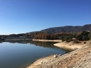 北山ダム越しに六甲山系を望む