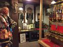 店内の一角にはこのような展示スペースも