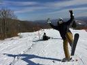 前半はショートスキーをレンタル