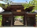 今日のスタートは神呪寺の山門