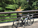 甲山橋から仁川渓谷を望む