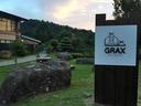GRAX HANARE入口に立てられた看板