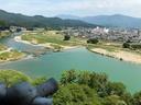 大洲城天守からの眺望