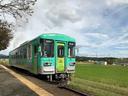 北条鉄道の播磨横田駅ではちょうどやってきた1両編成の列車も見ることができた