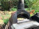手製のピザ窯