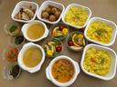 リトルランカのカレー3種とコロッケ、餃子