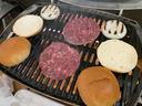 締めは手作りハンバーガー
